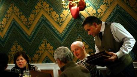 Patrons dine at La Pace in Glen Cove.
