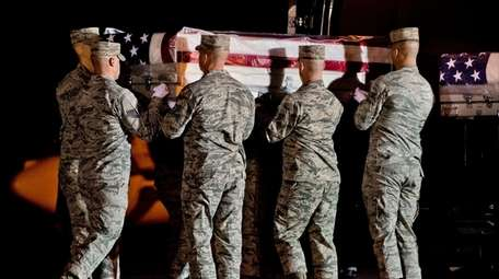 The remains of Master Sgt. Christopher Raguso of