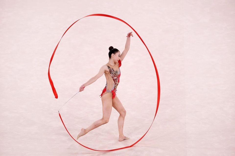Chiaski Oiwa of Team Japan competes during the