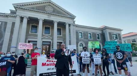 Activists and community members held a rally on