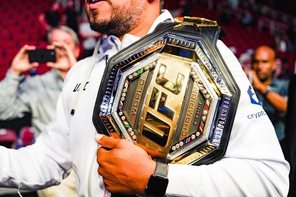 HOUSTON, TX - AUGUST 07: The UFC Heavyweight