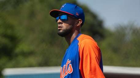 The Mets' Jose Martinez during a spring training