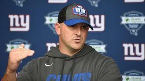 Joe Judge, New York Giants head coach, speaks