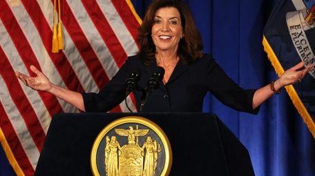 Lt. Gov. Kathy Hochul addressed the people of