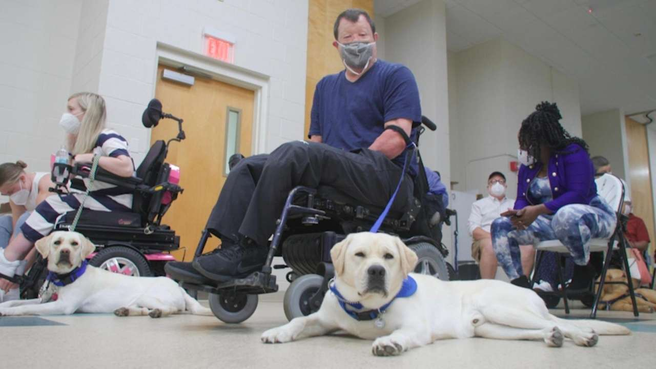 It was graduation day at Canine Companions in