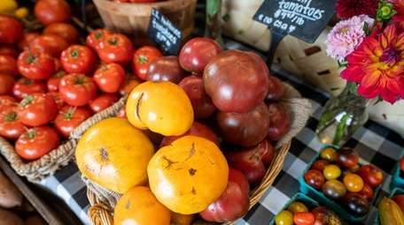 Heirloom tomatoes including including Yellow Brandywine and Marnero