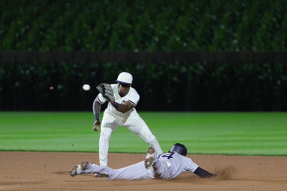 Tyler Wade #14 of the New York Yankees