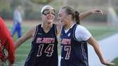 St. John the Baptist's Sarah Bennett, left, and