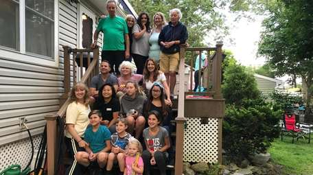 Jennifer Hoeppner, second row, middle, with four generations
