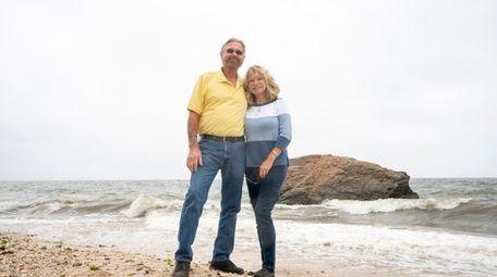 Ed and Astrid Hulse at Hulse Landing Beach