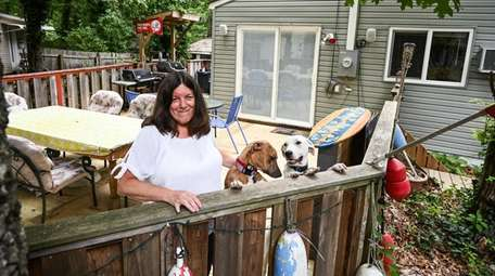 Teresa Butler at her Woodcliff Park cottage in