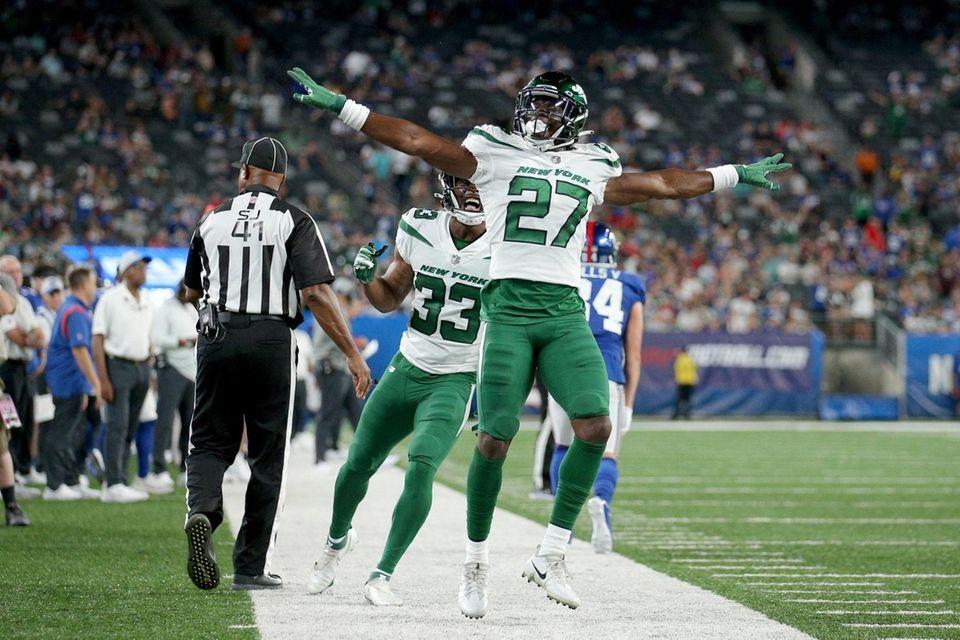 New York Jets defensive back Corey Ballentine (27)