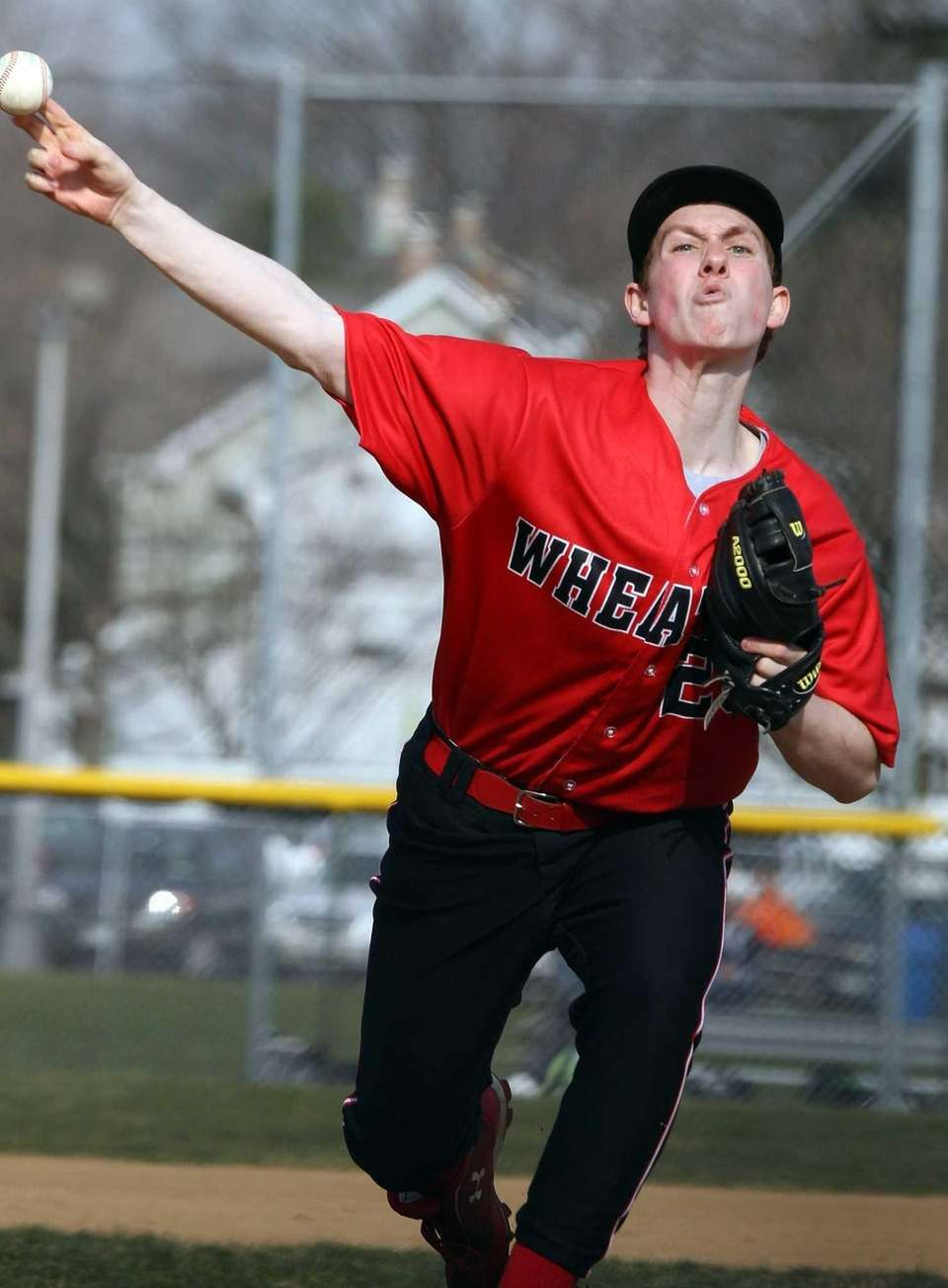Wheatley's Matt Rothstein delivers a pitch during a