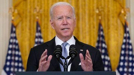 President Joe Biden spoke after the planned withdrawal
