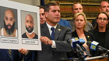 Suffolk County District Attorney Timothy Sini on Thursdayannounced