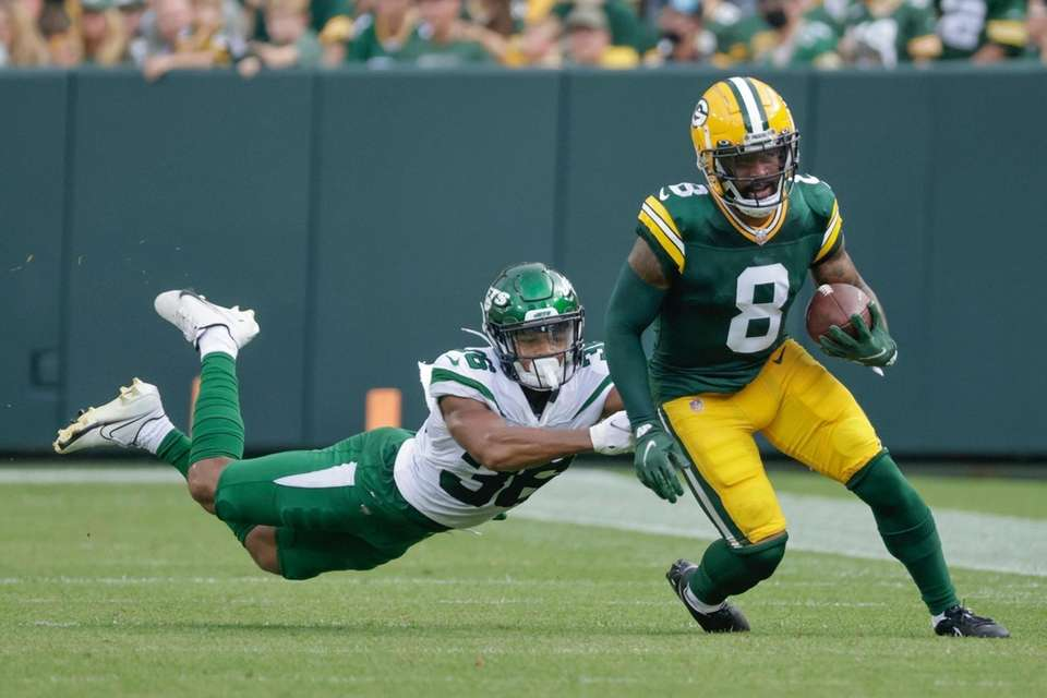 Green Bay Packers' Amari Rodgers gets past New