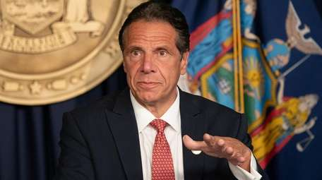 Gov. Andrew M. Cuomo is seen on Aug.