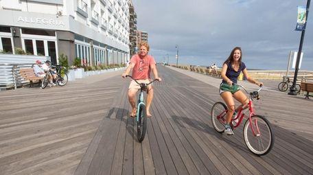 Biking the boardwalk is one of several ways