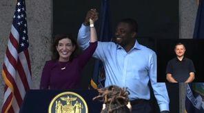 Gov. Kathy Hochul on Thursday introduced State Sen.