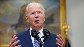 President Joe Biden is giving a live address