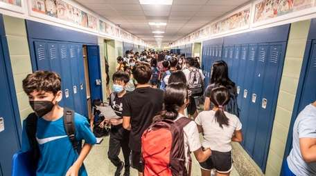 Middle and High school students return to class