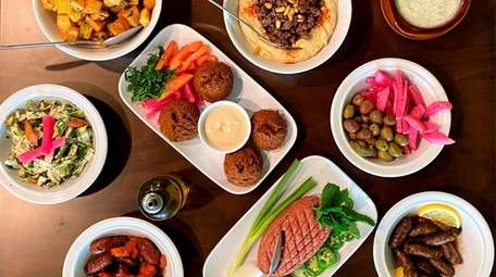 A selection of dishes at Beit Zaytoon, a