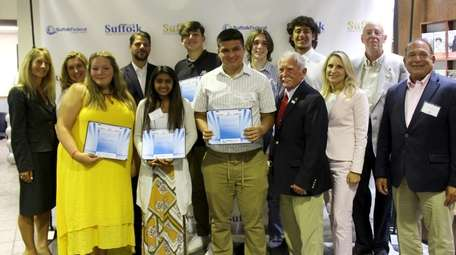 Suffolk Federal Credit Union presented college scholarships totaling