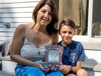 Jackie McManus and her son Logan McManus, 9,