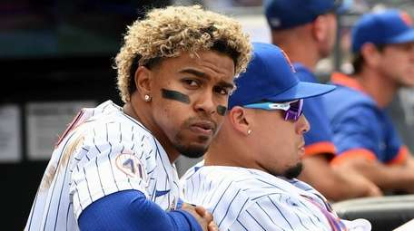 New York Mets' Francisco Lindor and Javier Baez