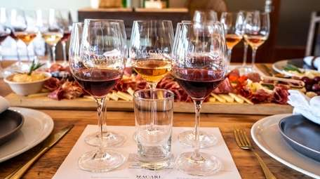 The private tasting experience at Macari Vineyards in