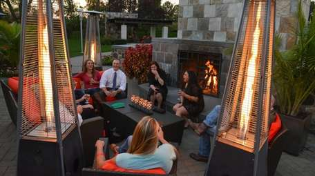 Guests gather to sip drinks and socialize by