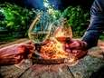 Sip wine by the fire pit at Il