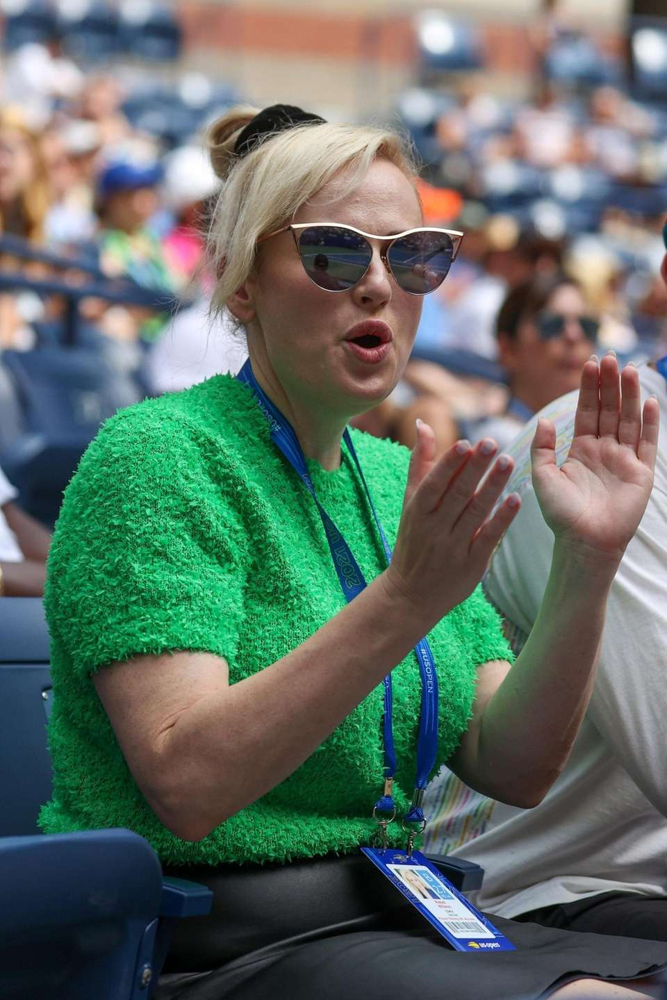 Actress and Comedian Rebel Wilson attends the match