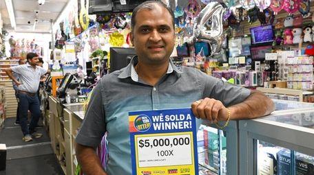 Allen Patel, owner of the Card Smart in