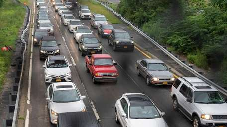 Traffic on the Southern State Parkway in Babylon.