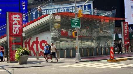 The TKTS booth in Manhattan's Times Square has