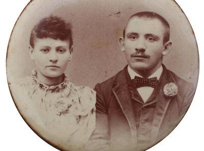 Photo of Elias and Rebecca Golden. Elias was