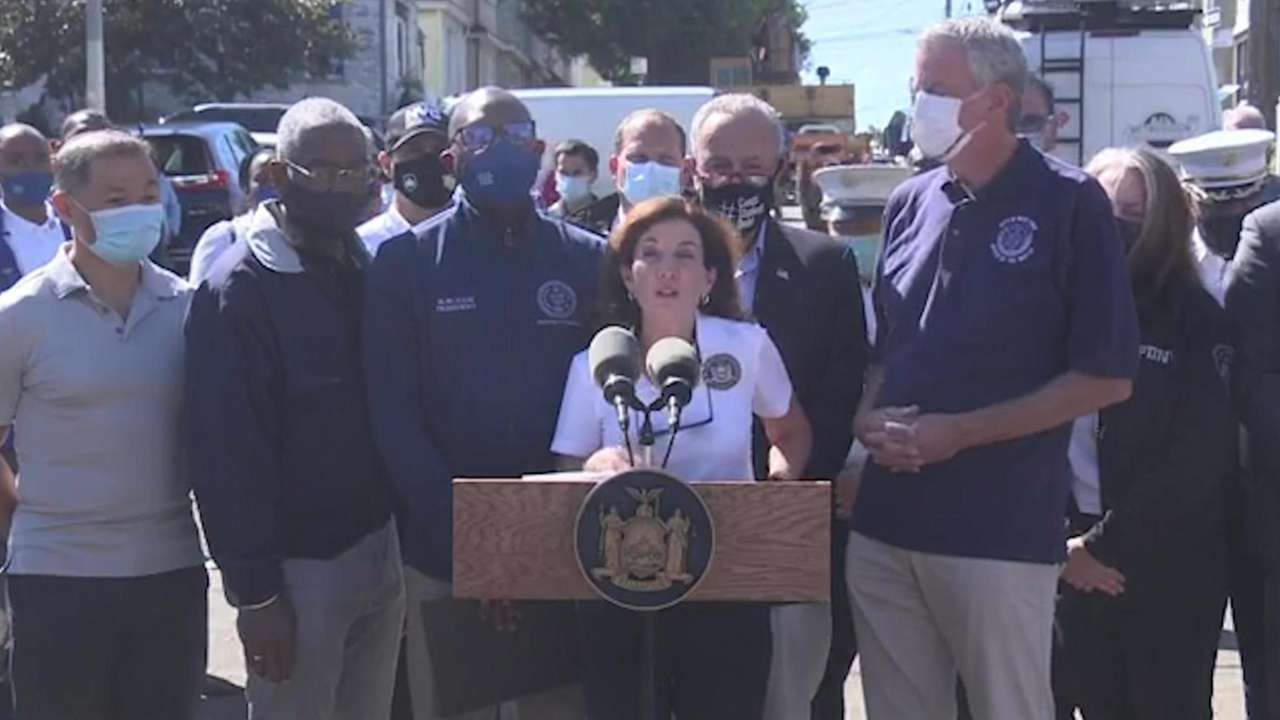 On Thursday, Gov.Kathy Hochul assessed the damage in