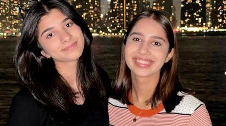 Maeryam, left, and Zahel Nasari recently raised $1,500
