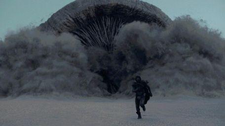 """Timothee Chalamet in """"Dune."""""""