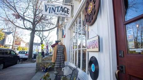 At The Times Vintage shoppers pass a record