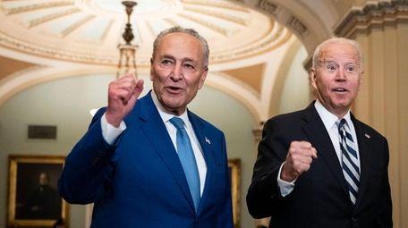 Senate Majority Leader Chuck Schumer and President Joe
