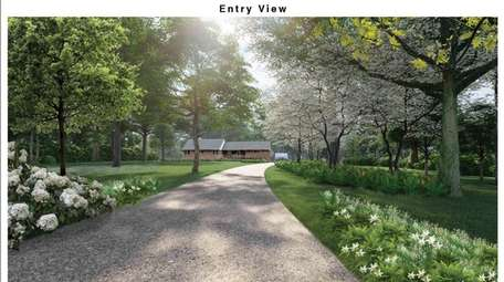 A rendering of the proposed garden in the