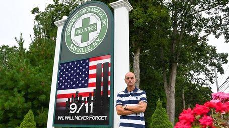 Jamie Atkinson, a 9/11 first responder, at Sayville