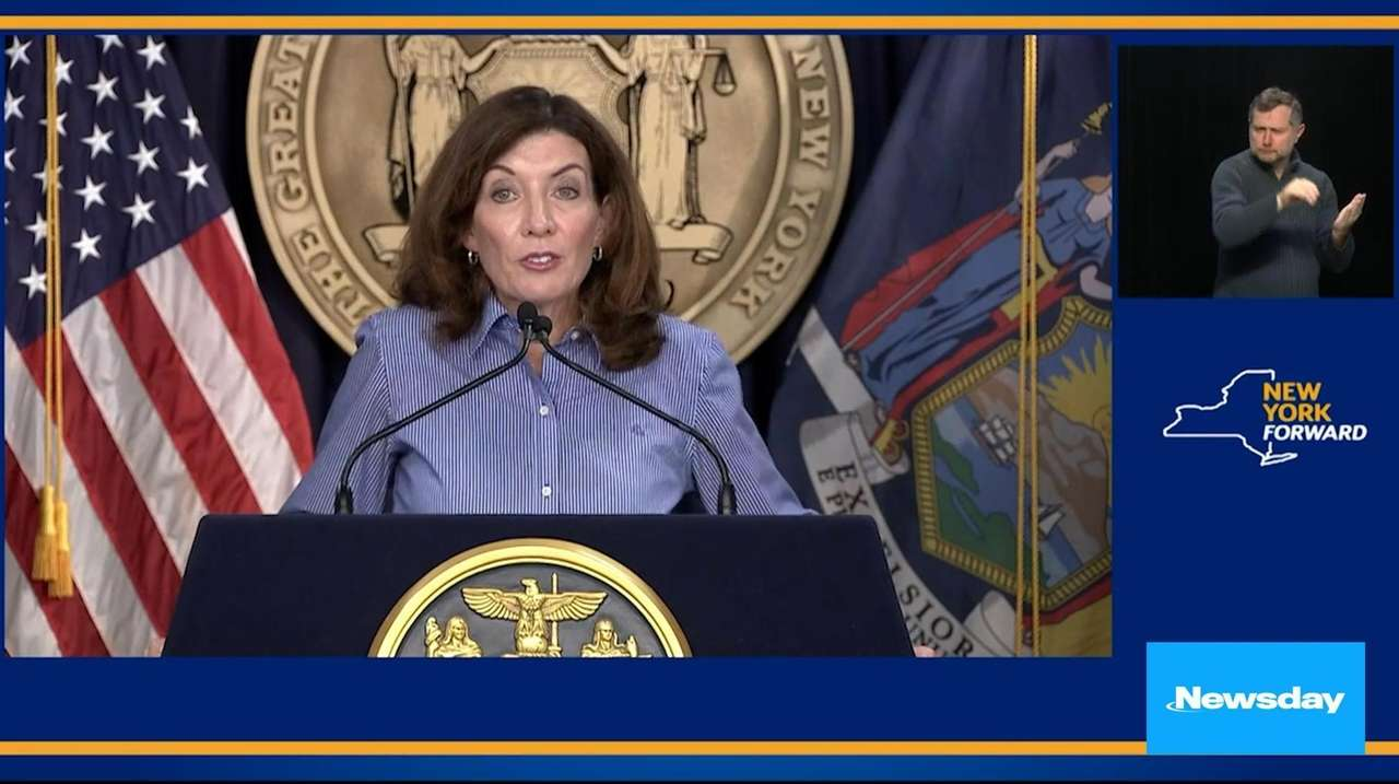 Gov. Kathy Hochul signed a request for an
