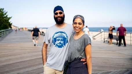 Gurvinder and Anu Bindra of Medford talked about