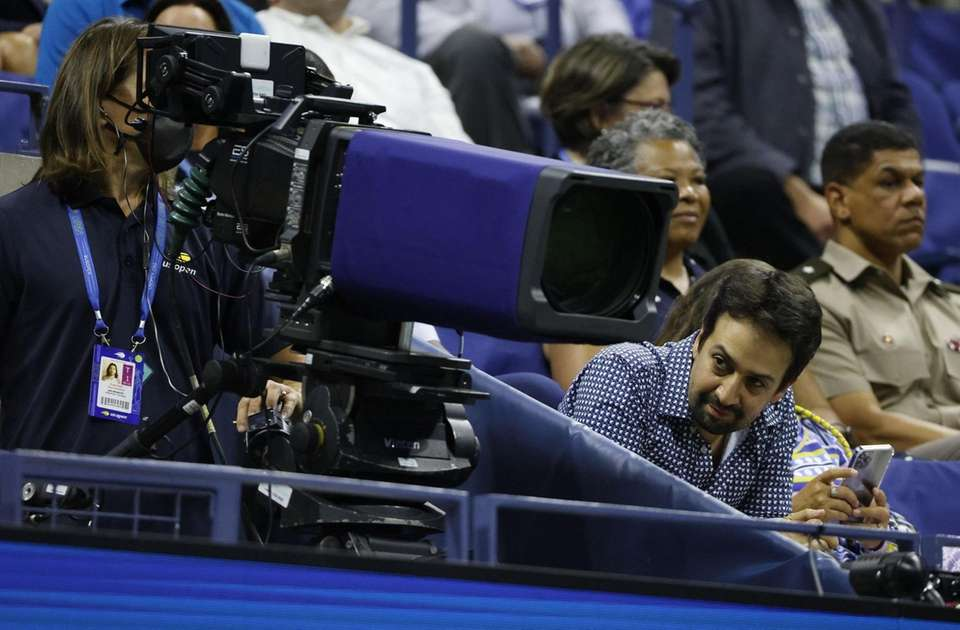 Lin-Manuel Miranda watches as Jenson Brooksby of the