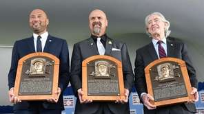Hall of Fame inductees, from left, Derek Jeter,