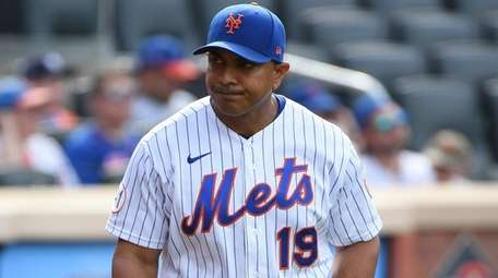 Mets manager Luis Rojas looks on against the