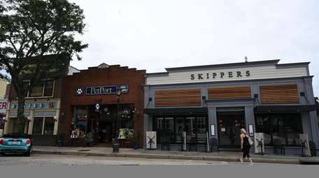 Northport's Main Street is lined with shops and